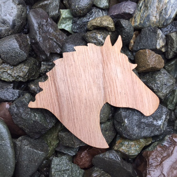 Horse Walnut Laser Cut Sticker (Qty. 6)