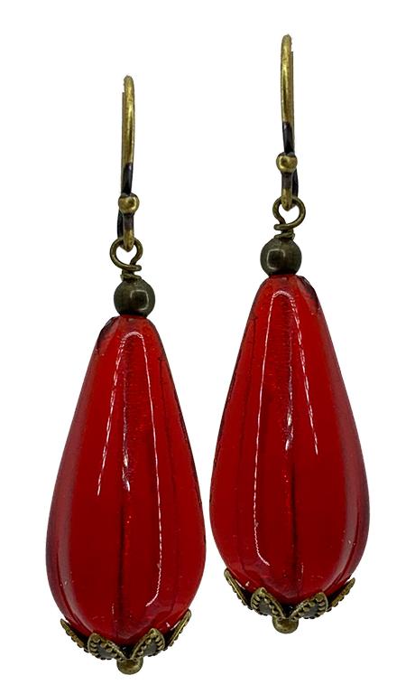 Red Teardrop Bit of Bliss (Qty. 1 Pair)