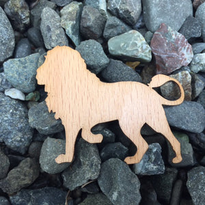 Lion Beech Laser Cut Sticker (Qty. 6)