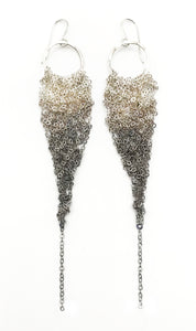Medium Silver Ombre Drop Earrings (Qty. 1 Pair)