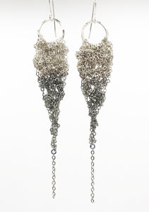 Small Silver Ombre Drop Earrings (Qty. 1 Pair)