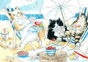 Cats at the Beach (Qty. 6)