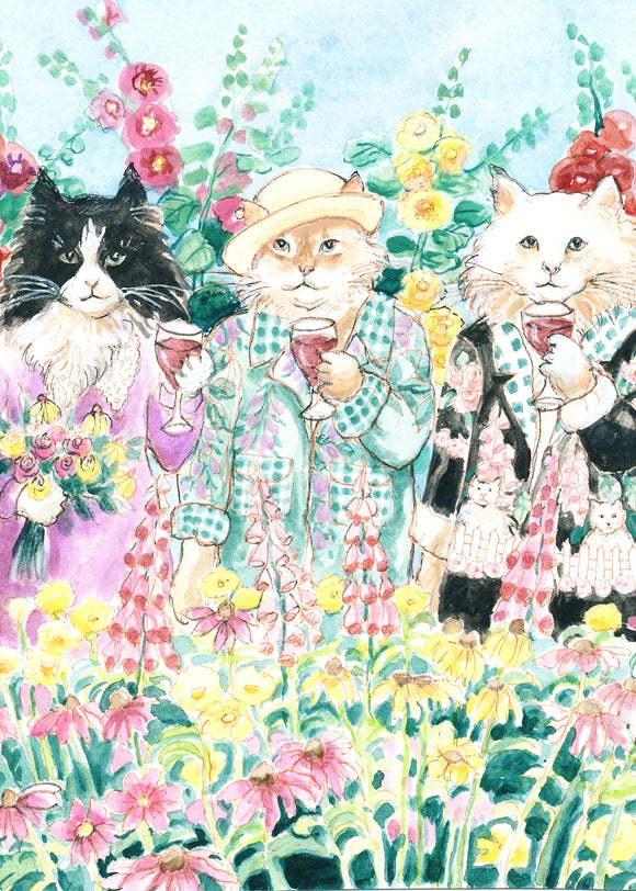 Cats Drinking Wine (Qty. 6)