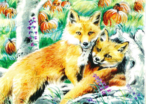 Foxes in the Pumpkin Patch (Qty. 6)