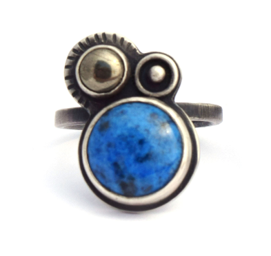 Lapis and Pyrite Orbital Ring (Qty. 1)