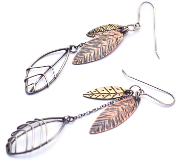 Long Leaf Cluster Earrings (Qty. 1 Pair)