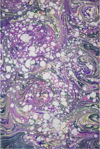 Bubble and Swirl Scarf in Purple (Qty. 1)