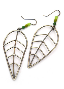 Extra Large Wire Leaf Dangles (Qty. 1 Pair)