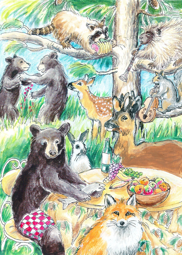 Woodland Creatures Celebrating (Qty. 6)