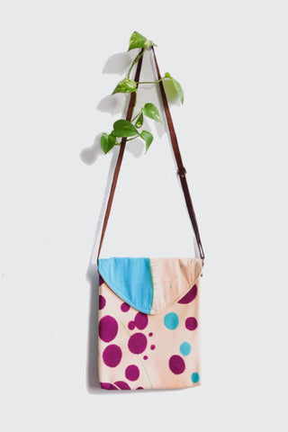 Polka Dot Adventure Raw Silk Purse