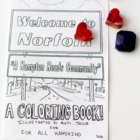 Welcome To Norfolk Coloring Book & Crayons