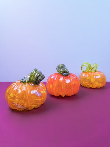 Medium Glass Pumpkins