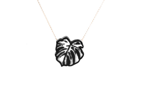 Monstra Leaf Necklace