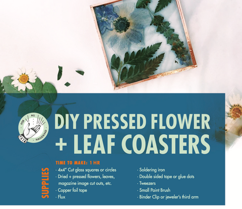 DIY Pressed Flower and Leaf Coasters Digital Guide
