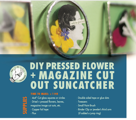 DIY Pressed Flower & Magazine Cut Out Suncatcher Digital Guide