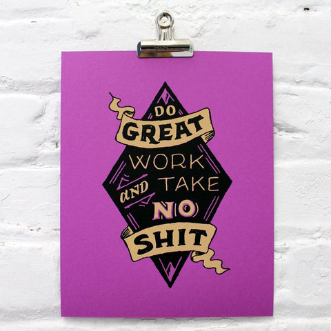 Do Great Work Print