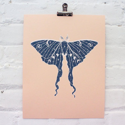 Glow in the Dark Luna Moth Print
