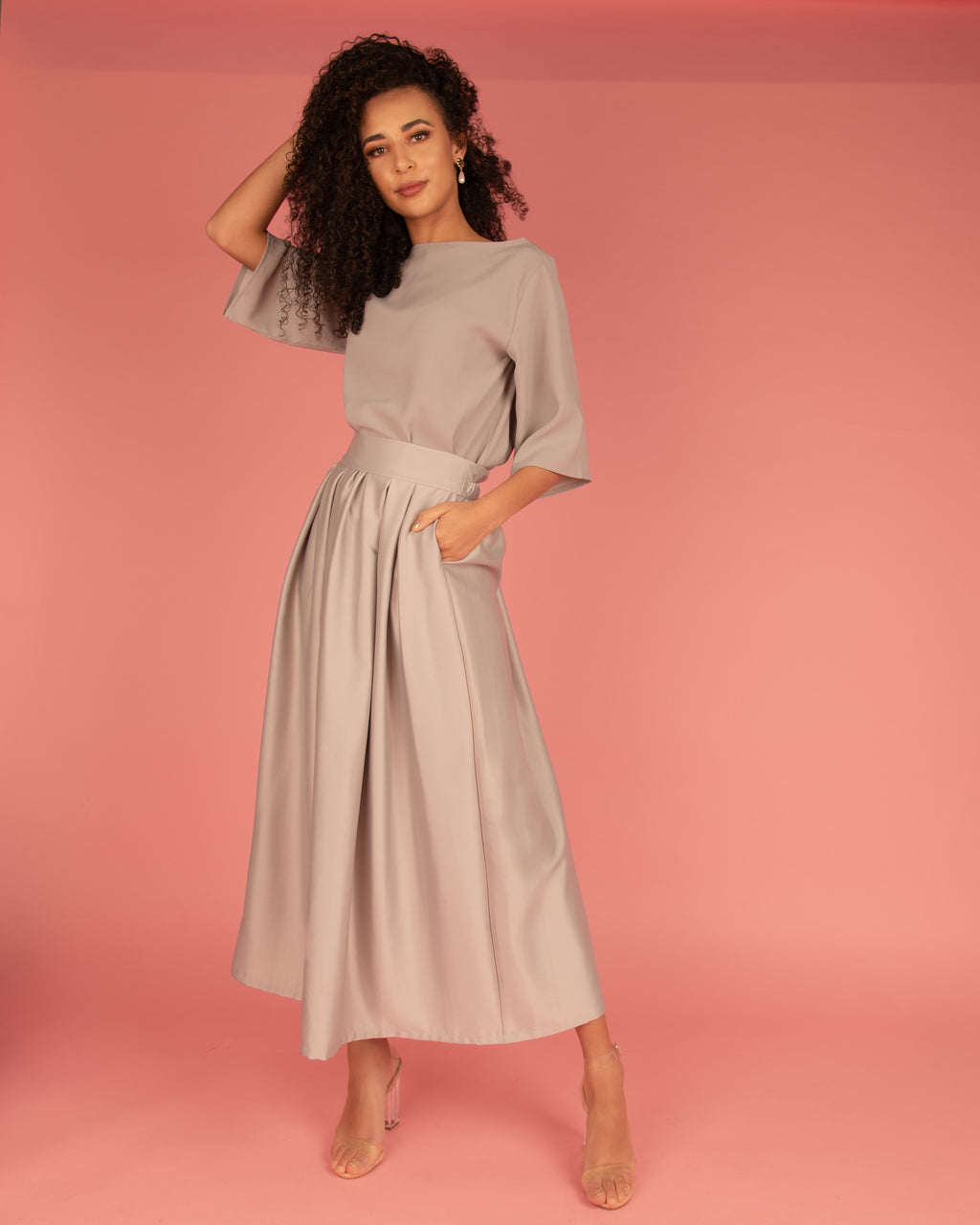 The Satin Skirt Co-Ord