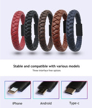 Load image into Gallery viewer, Bracelet data charging cable (Type-C/IPHONE/Micro USB)