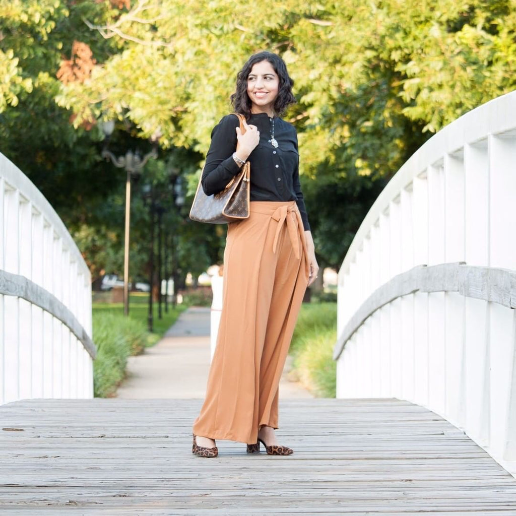 Wide Legged Light Brown Pants - Sotra Fashion