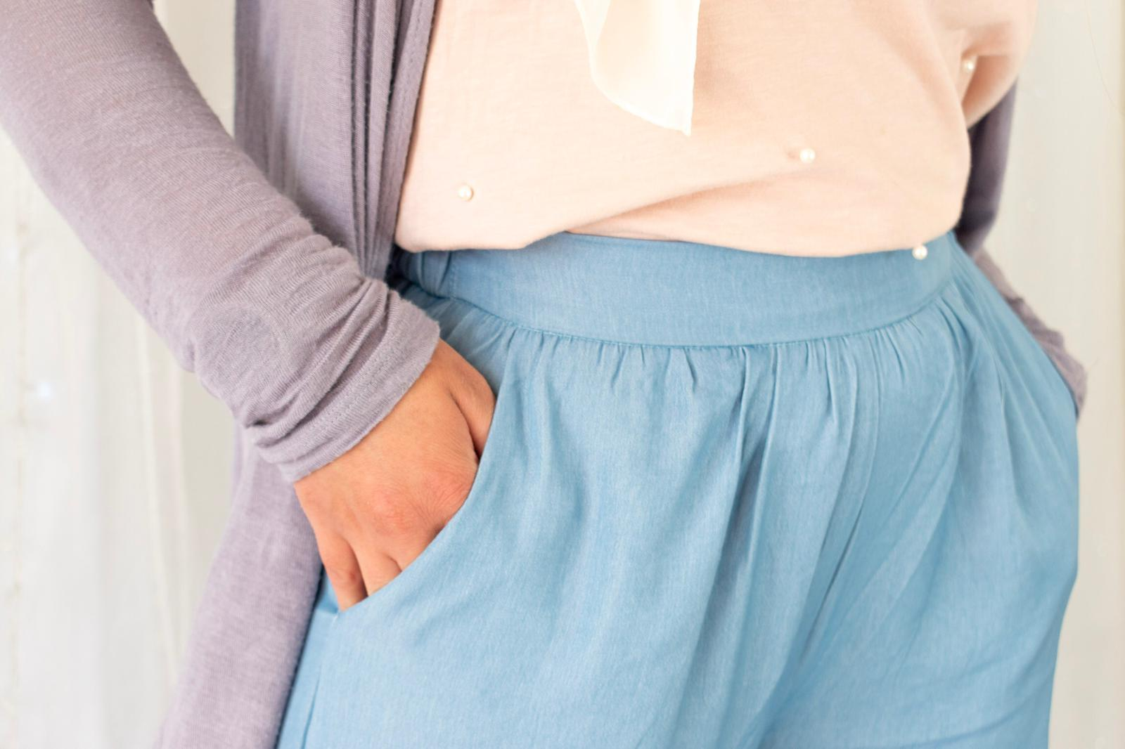 Sky Blue Pants - Sotra Fashion