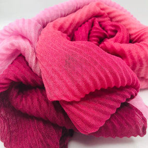 Gradient Pink Rose Hijab - Sotra Fashion