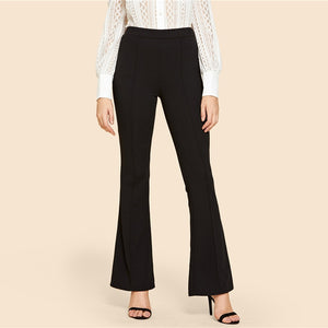 Black Vintage Flare Pants - Sotra Fashion