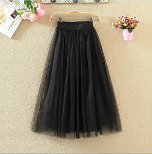 Tule Ankle-length Skirts - Sotra Fashion