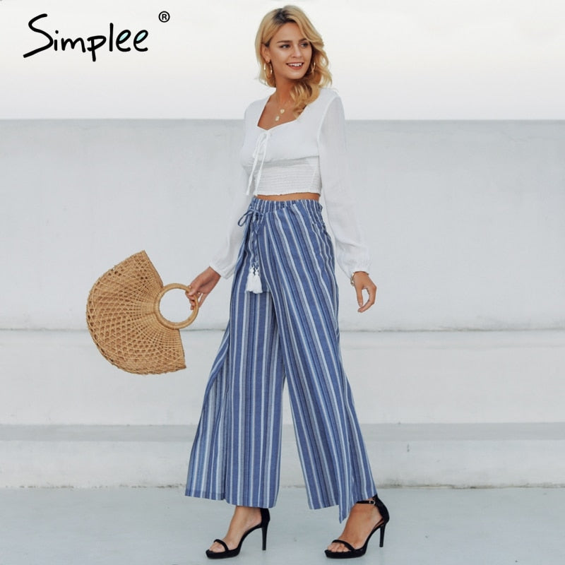 Tassel Ends Meet Pants - Sotra Fashion