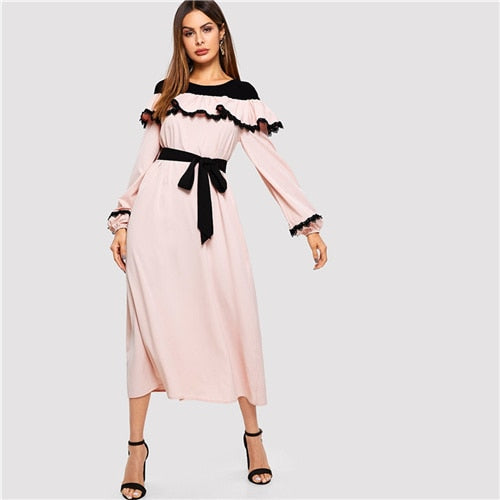 Put It In Ruffles Dress - Sotra Fashion