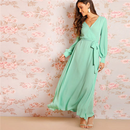 Pistachio Mint Dress - Sotra Fashion