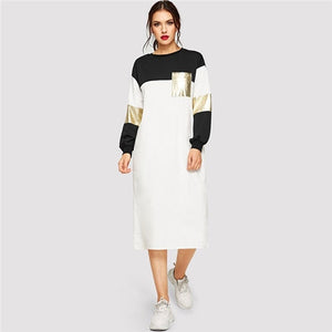 Flashy Streetwear Dress - Sotra Fashion