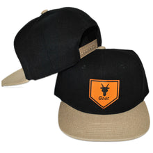 Load image into Gallery viewer, Home of the Goat SnapBack (Black/Khaki)