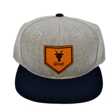 Load image into Gallery viewer, Home of the Goat SnapBack (Gray/Navy)