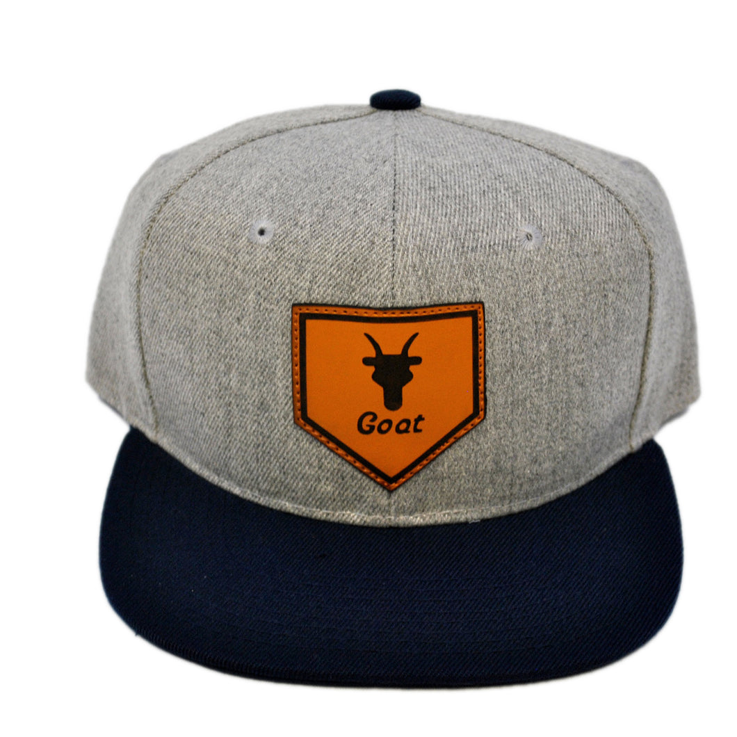 Home of the Goat SnapBack (Gray/Navy)