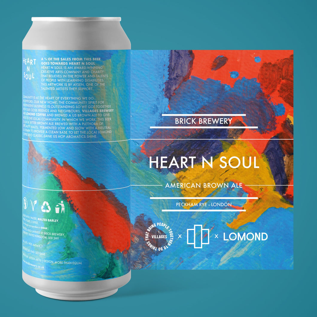Brick x Villages x Lomond - Heart N Soul - American Brown Ale - 440ml - 6.5%