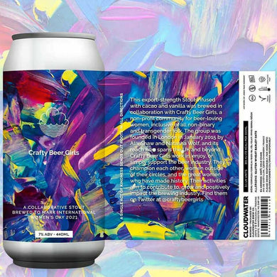 Cloudwater x Crafty Beer Girls - Cocoa & Vanilla Stout - ABV: 7% / 440ml Can