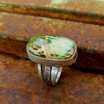 Turquoise Stone Statement Ring- Size 7 1/4