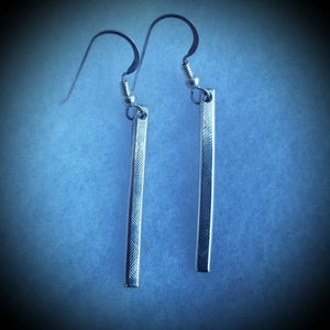 "Sterling Silver Earrings. 1 7/8"" in length."