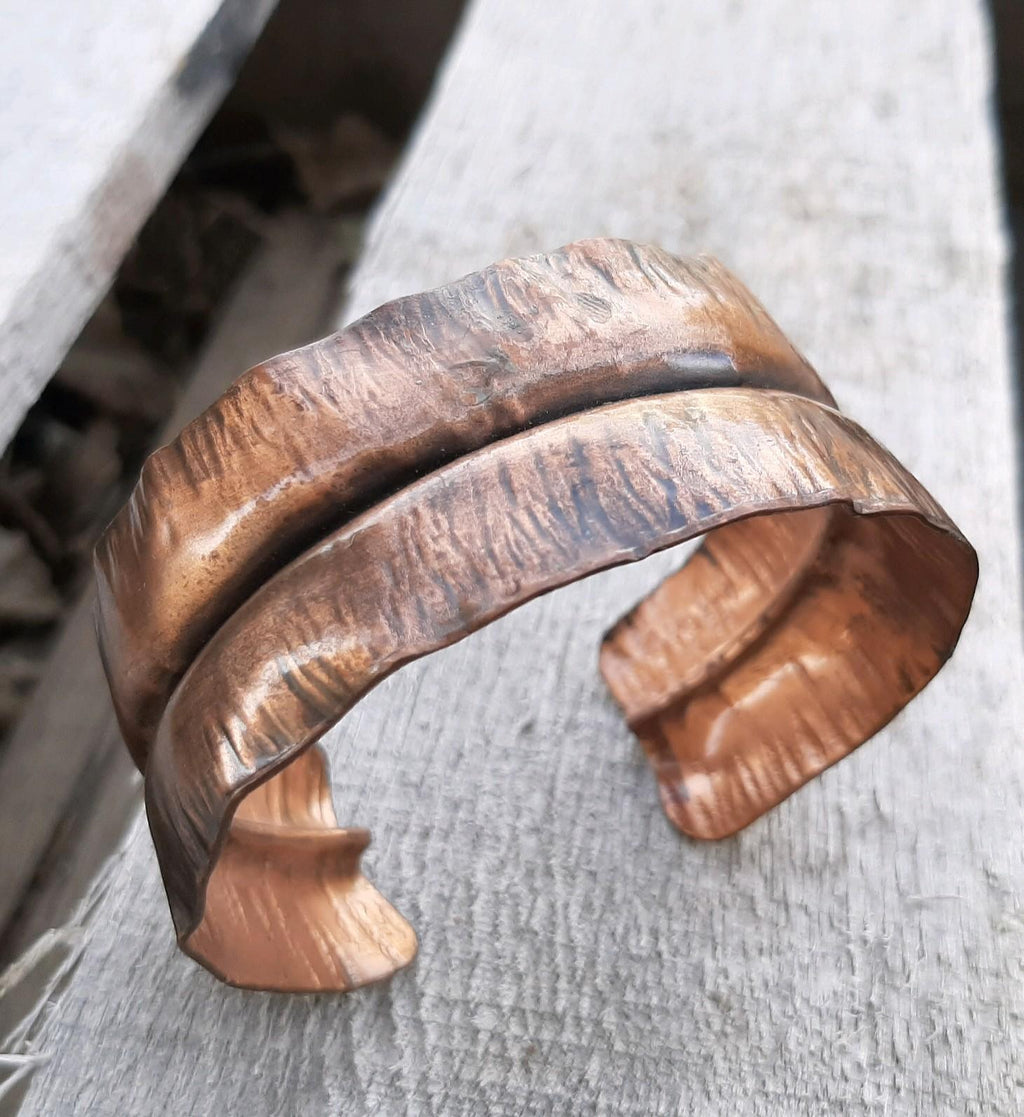 Ely Knives and Silver Solid Copper Bracelet with adjustable cuff.