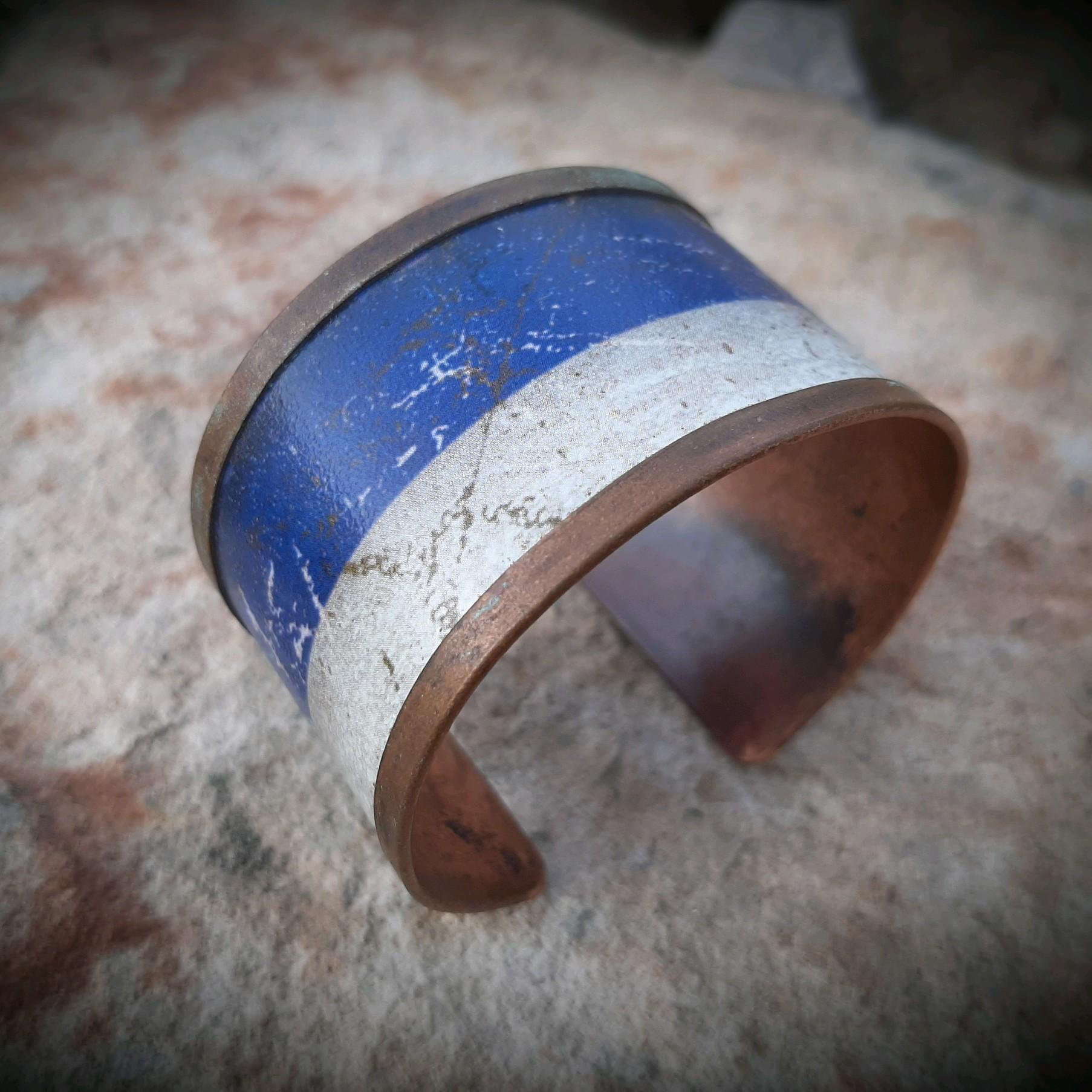 Blue Copper Bracelet