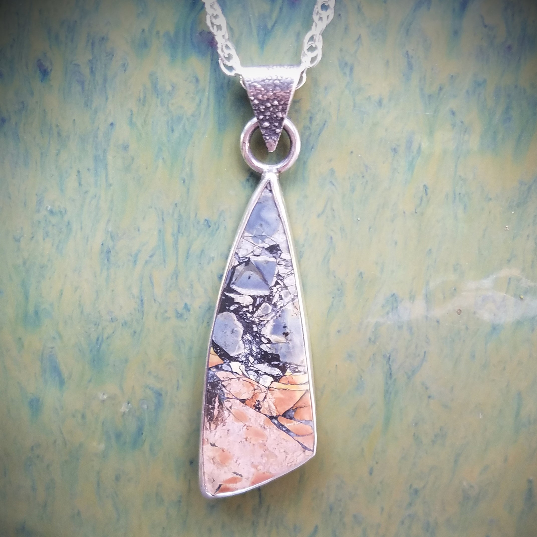 Lavender Sediment Jasper Stone Necklace