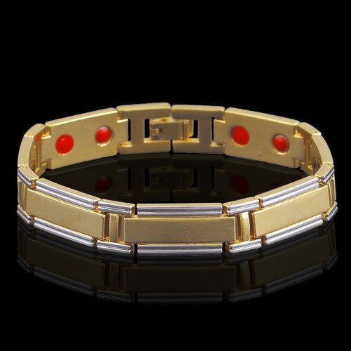 HOMOD dual color health care hot jewelry new products Magnetic Therapy  Hologram Bracelet Men