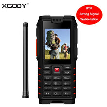 "XGODY ioutdoor T2 Rugged Phone IP68 Walkie-talkie Intercom 4500mAh Power Bank Strong Flashlight 2.4"" GSM Waterproof Cell Phone"