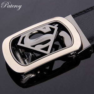 [PATEROY] Belt Designer Belts Men High Quality Leather Belt Men Designer Jeans Ceinture Homme Luxe Marque Cinto Metallica Luxury