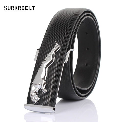 2016 Famous Brand Designer High Quality Genuine Leather Pin Buckles Jaguar Mens Belts Wide Luxury Male Cowskin Belt Women