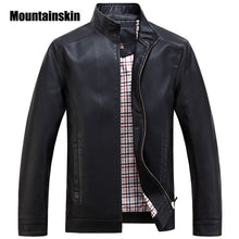 Mountainskin 2017 Faux Leather Jackets Men's Clothes Spring Autumn Coats Men Outwears Brand Clothing Business Men's Jacket WA093