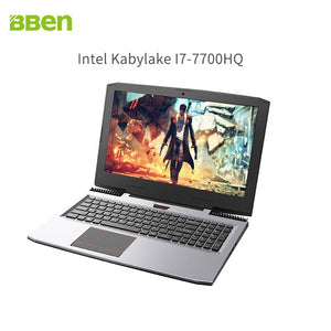 BBEN G16 laptop for gaming 15.6 inch  fast running 32GBRAM+256GB SSD+2TB HDD 1920x1080 FHD wifi IPS screen i7 7700HQ notebook