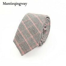 Mantieqingway Brand Plaid and Striped Men Skinny Ties Fashion Corbatas Plaid Neck Ties 6CM Narrow Tie for Party Neck Tie for Men