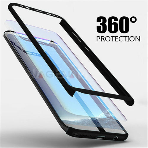 Luxury 360 Degree Full Protection Phone Cases For Samsung Galaxy S8 S9 Plus Plastic Case For Samsung S9 Note 8 S8 Cover Case